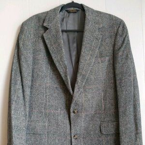 Brooks Brothers 40 LG Sport Coat Camel Hair Plaid